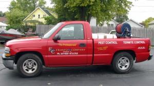 Frantz Pest Control truck